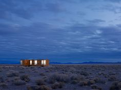 This prefab retreat in the Nevada desert has no air conditioning, using only…