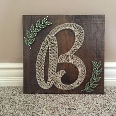Monogram string art by Kimsheartstrings on Etsy