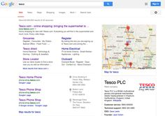 Predictive search with live search results and wll organised content.
