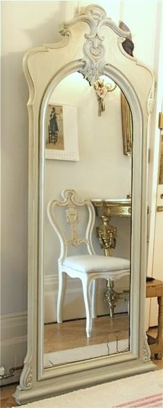 Vintage Chic ● Ornate Full Length Mirror