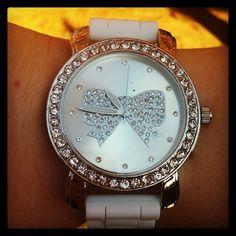 Cute bow watch.