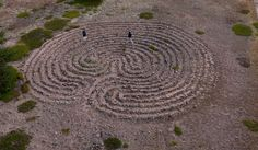 15-circuit labyrinth under the lighthouse of Rödkallen (island in Sweden)