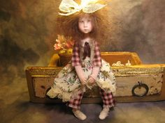 By Artist Aunt Mimm although I think it might be Carol McBride? Still Love this little girl stunning!