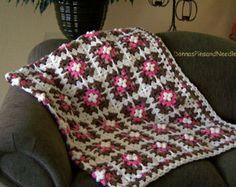 Uncinetto coperta afgana chevron nonna di DonnasPinsandNeedles