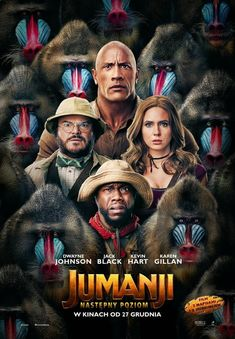 Jack Black, Kevin Hart, Dwayne Johnson, and Karen Gillan in Jumanji: The Next Level Movies 2019, Hd Movies, Movies Online, Movies Free, Movie Film, Watch Movies, Comedy Film, Horror Movies, Danny Glover
