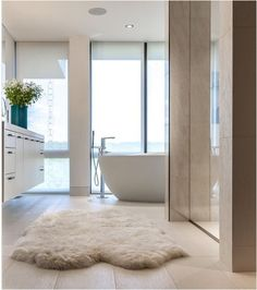 sheepskin-rug-in-bathroom