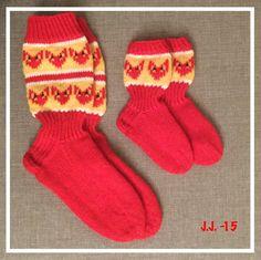 Kettusukat kettukarkki Knitting Socks, Stitches, Crafts, Diy, Handmade, Fashion, Do It Yourself, Hand Made, Moda