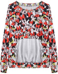 Camiseta Mickey combinada polipiel bolsillos-Rojo EUR€20.80