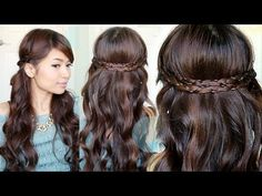 Irregular Braid Headband Hairstyles