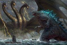 Godzilla Wallpaper, Hd Wallpaper, Desktop Wallpapers, Godzilla Vs King Ghidorah, King Kong Vs Godzilla, All Godzilla Monsters, Monster Pictures, Prehistoric Animals, Monster Art