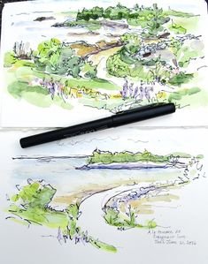 Sketchbook Wandering : top is quick sketch on site, lower is drawn later & with more deliberation