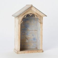 Vintage Scalloped Shrine . petite wooden shrine with zinc roof . France, circa 1890 . via Terrain