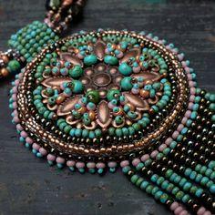 """""""Spirit of Alcázar"""" necklace - inspired by Heidi Kummli, Czech beads only."""