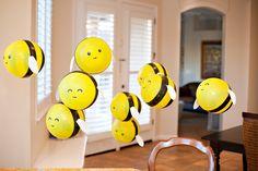 Floating Bumblebee Balloons
