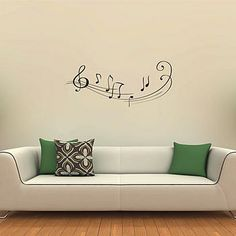 I want a room decorated in music notes.