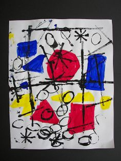 Miro inspired Abstract by Paintbrush Rocket, via Flickr