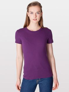 This is pretty much how I dress. I own several of these shirts. Fine Jersey Short Sleeve Women's T