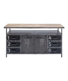 Love this Gray Vintage Numbered Cabinet by  on #zulily! #zulilyfinds