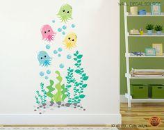 Nursery Jellyfish Vinyl Decal Bathroom Under by WallDecalSource, $35.00