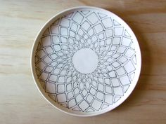 Melissa Maya Pottery...love this plate, and thinking I could make something similar at the pottery place. @Colleen Snow