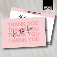 Business Thank You Cards, Modern Business Cards, Business Card Design, Beauty Business Cards, Thank You Card Design, Thank You Card Template, Purchase Card, Thanks Card, Packaging Design Inspiration