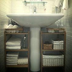 IKEA商品でバスルームを使いやすく快適に♪