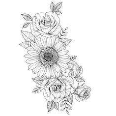 Cool 39 Impressive Black And White Sunflower Tattoo Ideas Sunflower tattoo – Fashion Tattoos Hand Tattoos, Mom Tattoos, Future Tattoos, Sleeve Tattoos, Tattoos For Women, Tatoos, Sunflower Tattoo Sleeve, Sunflower Tattoos, Sunflower Tattoo Design