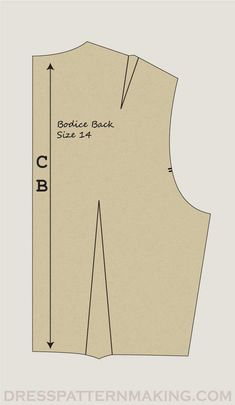 Instructions: Bodice Back - Dress Patternmaking Modern Patterns, Bodice Pattern, Pattern Drafting, Sewing Techniques, Dress Backs, Step By Step Instructions, Pattern Making, Dressmaking, Sewing Tutorials