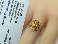 22k / 91,6% Gold Dubai / India Swirl Ring adujustable size