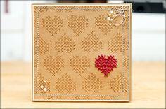 be more creative  I  Cross Stitch Heart Card