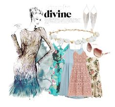 """""""Dress Heaven"""" by angelkelsey2 ❤ liked on Polyvore featuring Billabong, VILA, The Great, Matthew Williamson, self-portrait, Avenue, Jules Smith and Robert Rose"""