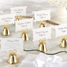 Wedding Bell Placecard Holders by Beau-coup