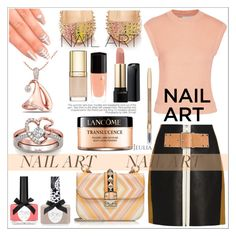 """""""Pastel Nails"""" by allanaaa11 ❤ liked on Polyvore featuring beauty, Lancôme, Ciaté, 3.1 Phillip Lim, Alexander Wang, Christian Louboutin, Valentino, Elegant Touch, Dolce&Gabbana and jewelry"""