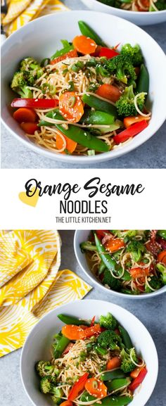 Orange Sesame Noodles with Vegetables from thelittlekitchen.net