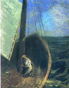 sherrymonocle: odilon redon - the boat (1902)