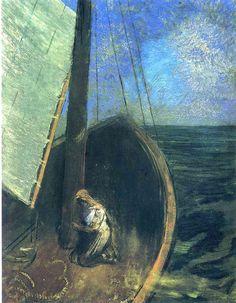 sherrymonocle: odilon redon - the boat (1902)