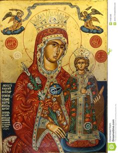 Photo about Orthodox religious icon of saint man. Image of motherhood, mary, holy - 31891280 Religious Icons, Religious Art, Mary Flowers, Christian Artwork, Religious Paintings, Blessed Mother Mary, Byzantine Icons, Holy Mary, Orthodox Icons