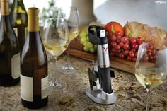 The Coravin Wine Access System allows you to pour one glass of wine without compromising the cork's integrity or oxidizing the bottle, 360 West Magazine, December 2014 #wine #wino #giftideas #coravin #winegifts