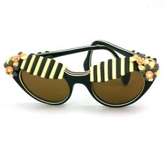 House of #Schiaparelli Surreal Black Cabana Awning #sunglasses, 1957