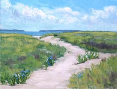 To the beach - oil on canvas by Carolyn Francis