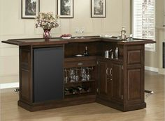 There comes a time in every adult's life when a bar cart just won't do anymore. In which case, it might be time to upgrade to a bar cabinet. Home Bar Rooms, Diy Home Bar, Corner Bar, Corner House, Man Cave Bar, Wine Bar Furniture, Furniture Ideas, Furniture Stores, Bar En Palette