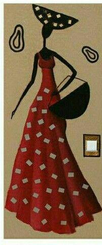 African Girl, African Beauty, African Fashion, African Quilts, Ceramics Projects, Crayon Art, Black Women Art, African Design, Female Art