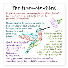 The Hummingbird Square Magnet Hummingbird Meaning, Hummingbird Quotes, Hummingbird Symbolism, Beautiful Birds, Hummingbirds, Animal Spirit Guides, Spirit Animal, Body Art Tattoos, Tatoos
