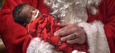Santa visits the tiniest patients at the children's hospital to spread holiday cheer. Best Christmas Presents, First Christmas Ornament, Christmas Fun, Holiday Fun, Green Tutu, Santa Outfit, Santa Pictures, Mom Jokes, Family Support