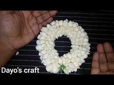 (12) How to string Jasmine flower garland. - YouTube