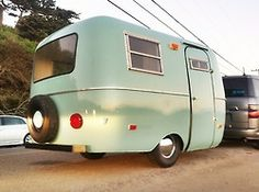 """Ladies and Gentleman we present to you the """"Sage Coach"""" ! our newest member to the Happier camper family is a Vintage 1976 Scamp completely restored to its original beauty. Sage (light green) paint on..."""
