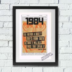 George Orwell 1984 Classic Upcycled Art Print by VintageNBeautiful