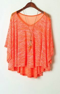 Orange blouse