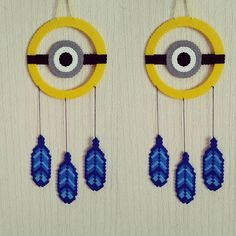 Minion dreamcatcher hama beads by sistyria