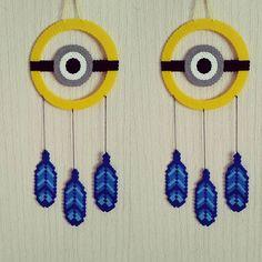 Minion dreamcatcher hama beads by sistyria